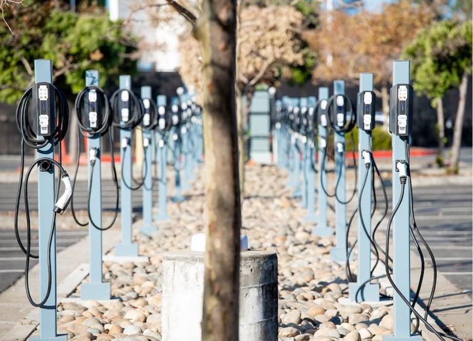 TurboDX-Powerflex charging station parking lot